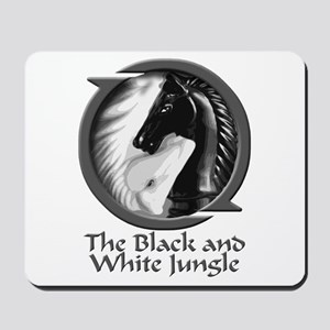 Black and White Jungle Mousepad