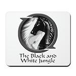 Black and White Jungle Mousepad