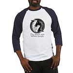Black and White Jungle Baseball Jersey