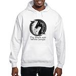 Black and White Jungle Hooded Sweatshirt