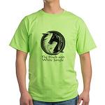 Black and White Jungle Green T-Shirt