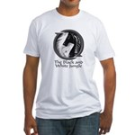 Black and White Jungle Fitted T-Shirt
