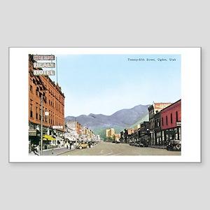 Ogden Utah UT Rectangle Sticker