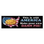 American Pie anti-socialist Bumper Sticker (10 pk)