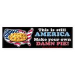 American Pie anti-socialist Bumper Sticker (10 pk)