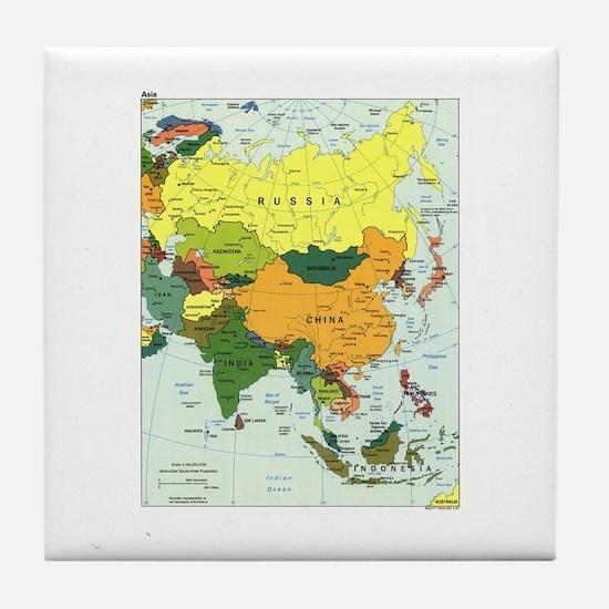 Asia Map Tile Coaster