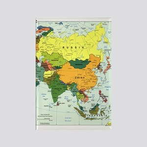 Asia Map Rectangle Magnet