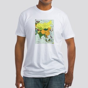 Asia Map Fitted T-Shirt
