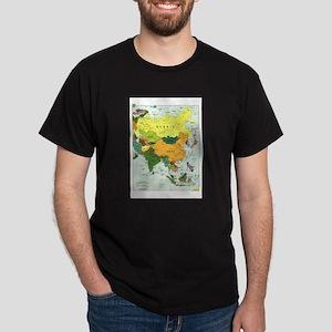 Asia Map Dark T-Shirt