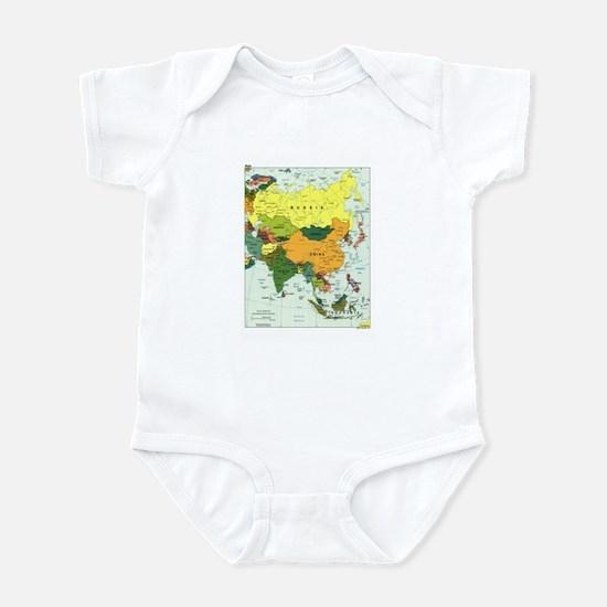 Asia Map Infant Bodysuit