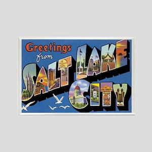 Salt Lake City Utah UT Rectangle Magnet