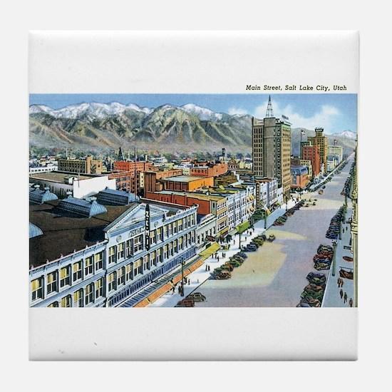 Salt Lake City Utah UT Tile Coaster