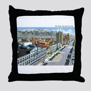 Salt Lake City Utah UT Throw Pillow