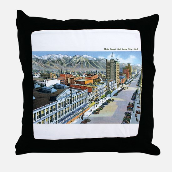 Salt Lake City Utah UT Throw Pillow