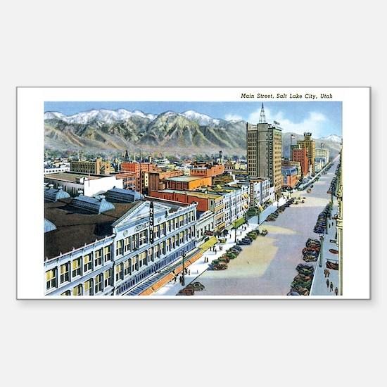 Salt Lake City Utah UT Rectangle Decal