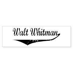 Walt Whitman Bumper Bumper Sticker