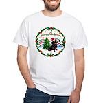 XmasMusic1/Dachshund #17 White T-Shirt