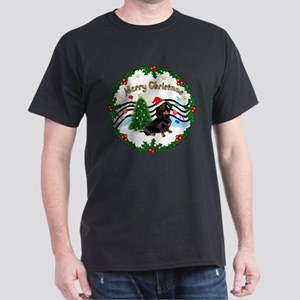 XmasMusic1/Dachshund #17 Dark T-Shirt
