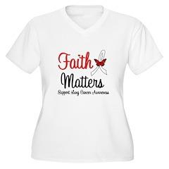 Lung Cancer Faith Matters T-Shirt