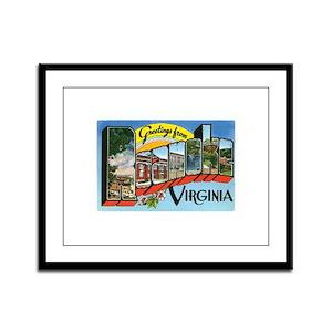 Roanoke VA Framed Panel Print