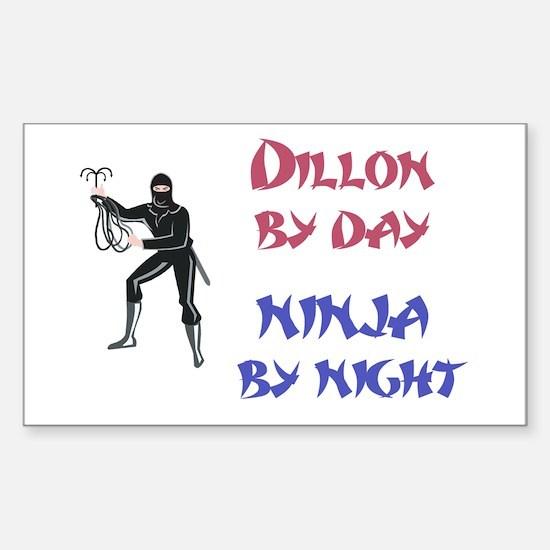 Dillon - Ninja by Night Rectangle Decal