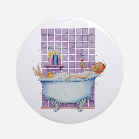 Bathtub Joy Ornament (Round)