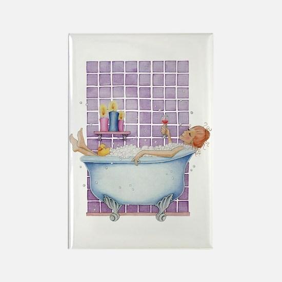 Bathtub Joy Rectangle Magnet (10 pack)