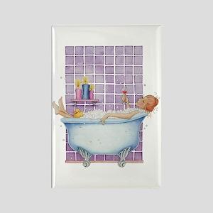 Bathtub Joy Rectangle Magnet