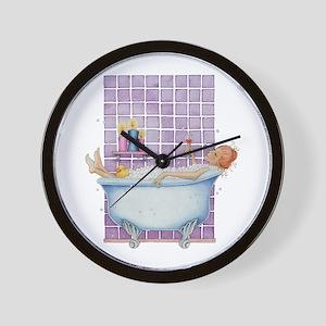 Bathtub Joy Wall Clock