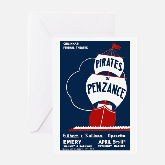 Pirates of Penzance Greeting Card