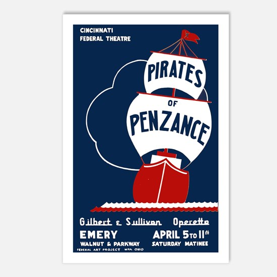 Pirates of Penzance Postcards (Package of 8)
