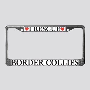 Border Collie Rescue License Plate Frame