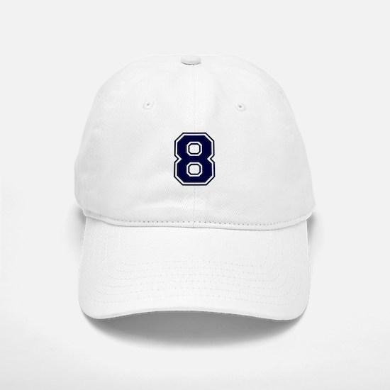 NUMBER 8 FRONT Baseball Baseball Cap