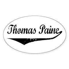 Thomas Paine Oval Decal
