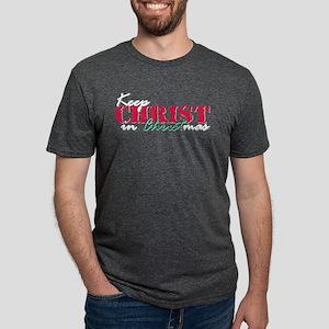 Keep Christ rs Mens Tri-blend T-Shirt