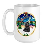 XmasMusic r (blk) #13/Cocker Large Mug