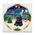XmasMusic r (blk) #13/Cocker Tile Coaster