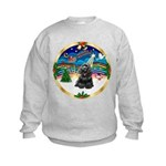 XmasMusic r (blk) #13/Cocker Kids Sweatshirt