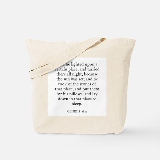 GENESIS  28:11 Tote Bag