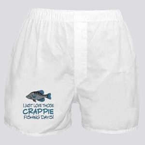 Crappie Fishing Day! Boxer Shorts