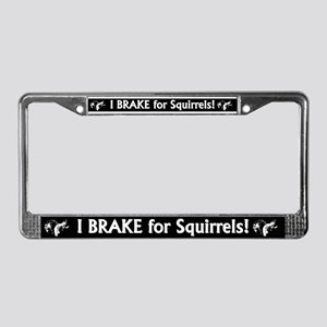 Save a Squirrel License Plate Frame