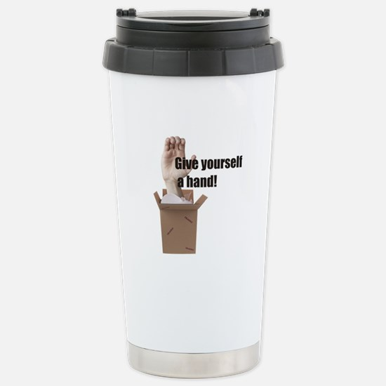 Give Yourself A Hand Stainless Steel Travel Mug