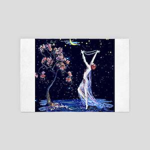 Tsanya Starlight Dancer, Art Deco 4' x 6' Rug