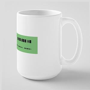 Morse Code Insult Large Mug