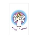 Holiday Angel Rectangle Sticker 10 pk)