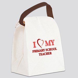 I love my Primary School Teacher Canvas Lunch Bag