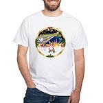 XmasSunrise/Chihuahua #1 White T-Shirt