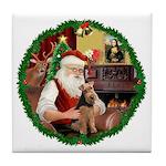 Santa's Welsh T Tile Coaster