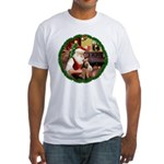 Santa's Welsh T Fitted T-Shirt
