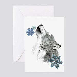 Snowflake Howl Greeting Card